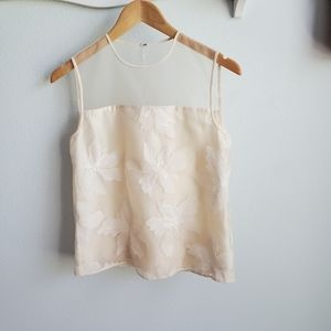 Rebecca Taylor ivory embroidered top 0